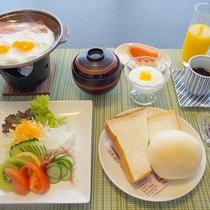 【洋風のご朝食一例】別府の人気パン屋さんで焼き上げるパンをご用意!