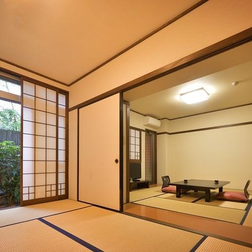 【部屋/半露天風呂付和室】広々とした2間和室のご用意となります。