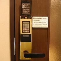 女性大浴場の入口は暗証番号鍵でがっちりガード!