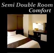 ◆コンフォートセミダブル◆加湿空気清浄機完備 12.1平米 ベッド幅120cm