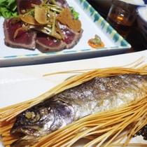 *当館名物「虹鱒の素麺揚げ」!お客様に好評を頂いている、当館オリジナルの料理です♪