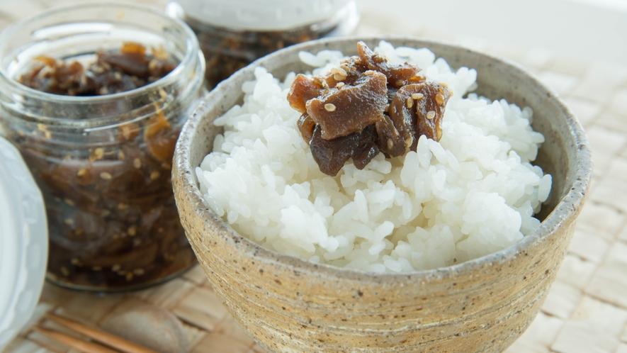 *ゴーヤの佃煮(プラン特典)/ご飯のお供に最適♪苦味が和らぐよう少し甘めに仕上げてます。