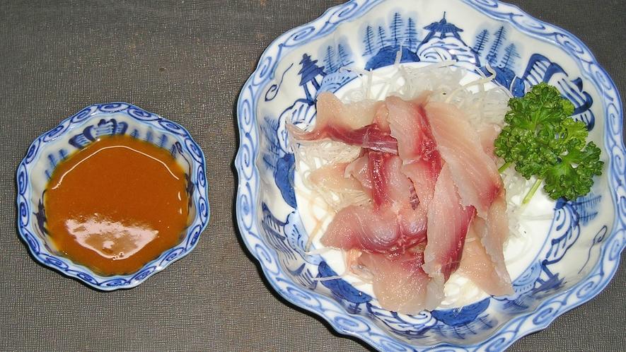 *料理一例/「鯉のあらい」旨煮もご用意できます!臭みがなく初めての方でもお召し上がりいただけます。