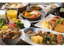 【和洋バイキング朝食】盛り付け例