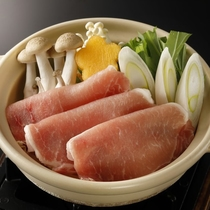 2018 冬 伊豆見会席 豚肉生姜鍋