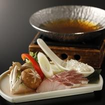 旬魚と美肌スープの小鍋仕立て