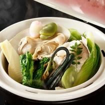 蛤と春野菜の蒸しもの