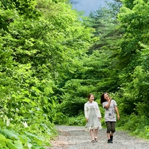 *[施設一例]岩手山の豊かな森の中にあり、散策しながら森林浴を楽しめます。