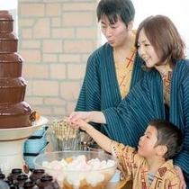 夕食バイキング〜チョコレートファウンテン