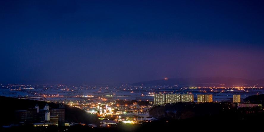 ホテルからの風景~北広島市街地夜景~