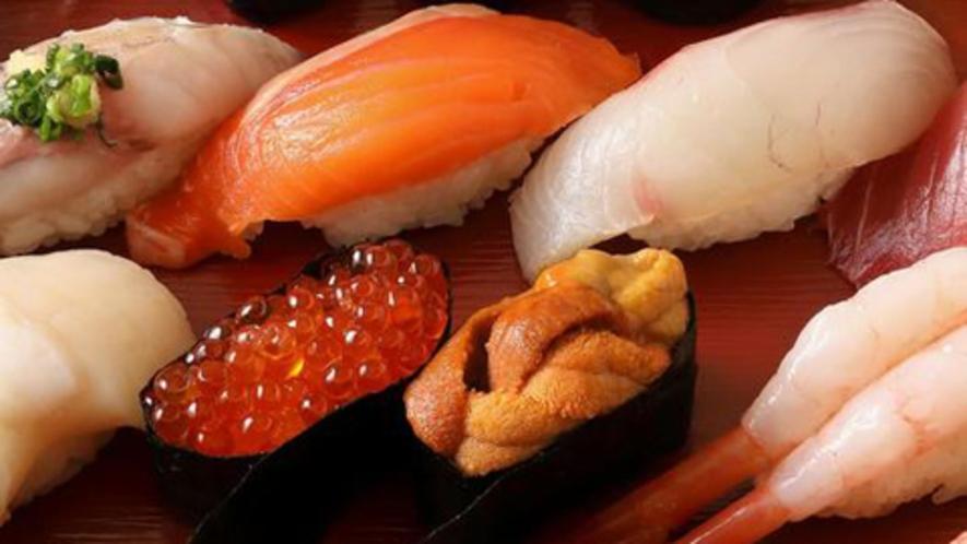 地元「良寿司」のお寿司盛り合わせ