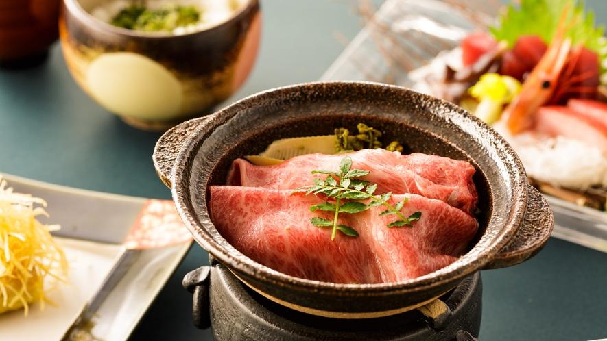 季節の素材季節の素材をつかった料理が並びます (一例)