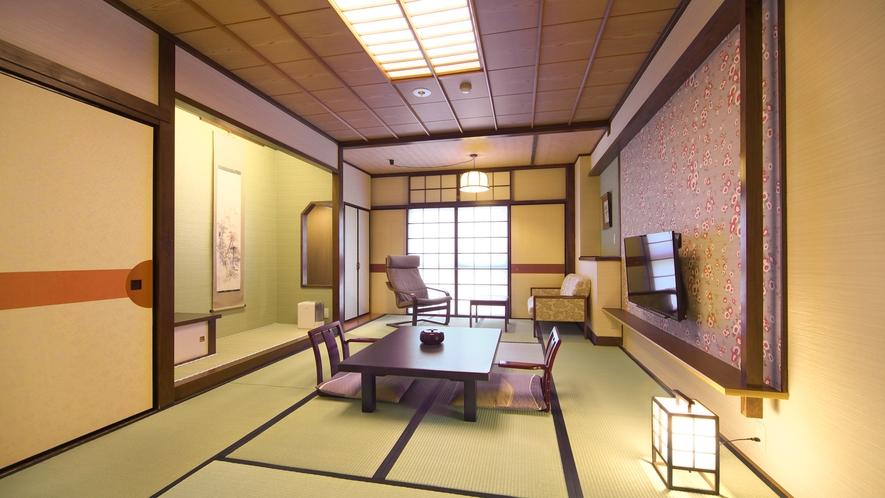 【和室】和の落ち着きとモダンのインテリアで寛ぎの空間を演出する10~12畳の和室。