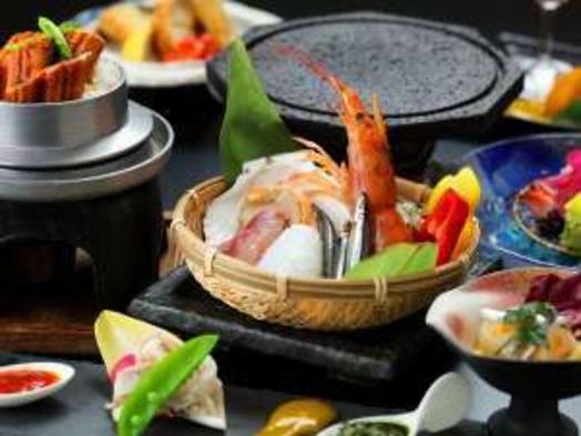★料理長渾身の創作料理!海側オーシャンビュー確約♪鹿児島特産品を贅沢に♪『黒毛和牛×夏旬お魚料理』