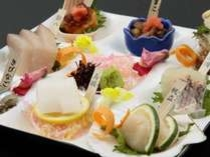 旬魚のお造り8種パレット盛り