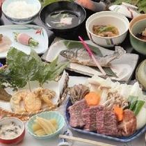 つみくさ料理グレードUP(上州牛の陶板焼きコース)