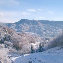 冬・風景一面の銀世界に包まれる当館