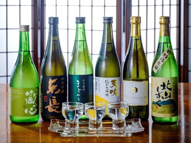 日本料理玄界にて人気の日本酒呑み比べセット
