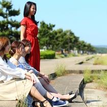 浜崎海岸(ホテルより車で約10分)