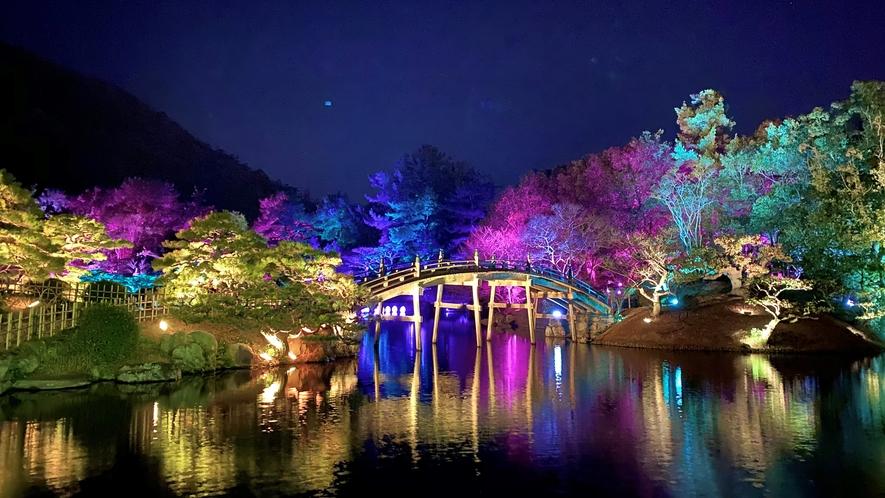 ■栗林公園 ライトアップ2020
