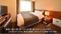 禁煙ダブルルーム(シモンズ社製ベッド1400×1950)15平米   ※シャワーブースのみ