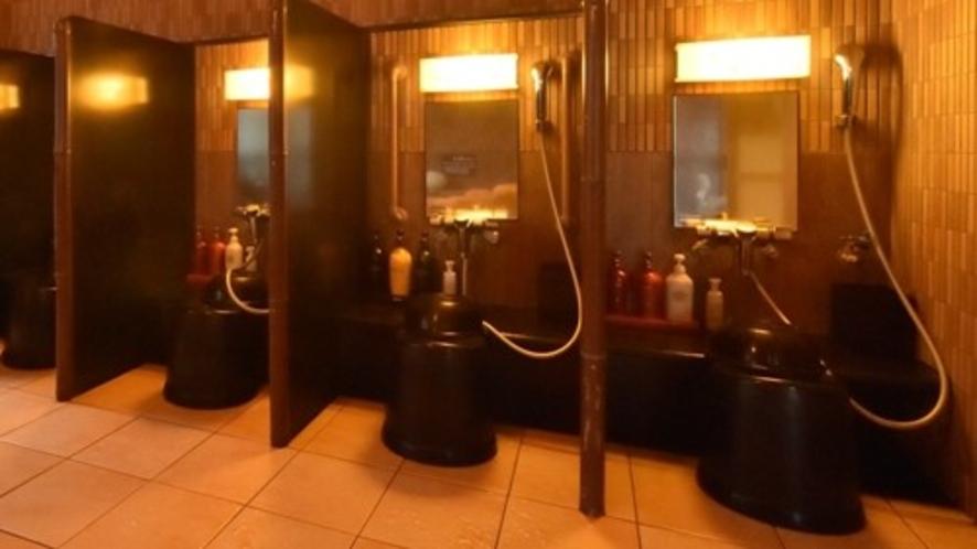 女子洗い場(カラン数:5個)