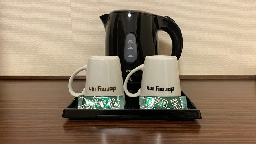 お茶 湯沸かしポットをご用意しております