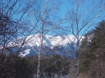 新A棟からの御嶽山の眺望
