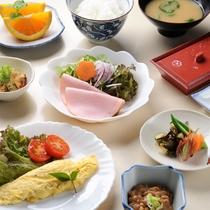 *【朝食一例】身体にやさしい朝ごはんで1日の元気をチャージしましょう。