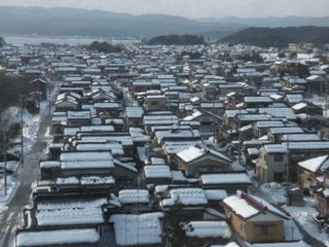 蛸島冬景色