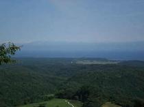 八ヶ山から見たホテル