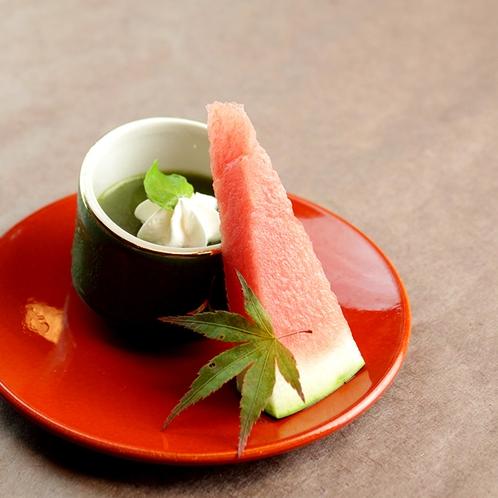 夏のお食事一例:水菓子
