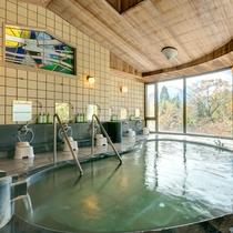 富士山を眺めながら浸かれる大浴場です。