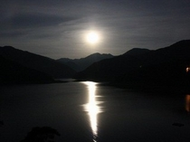神流湖の月夜
