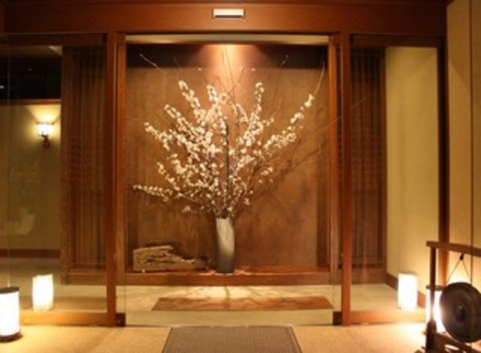 エントランスの桜