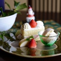 女将特製のクリスマスショートケーキ