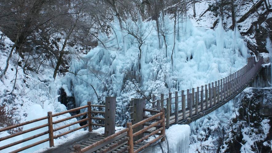 尾ノ内百景(冷っけぇ〜)の氷柱