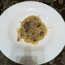 【ディナー】きのこクリームパスタ