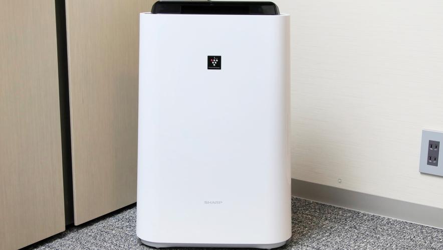 加湿機能付き空気清浄機を、全客室に完備しております!乾燥する季節にも安心♪