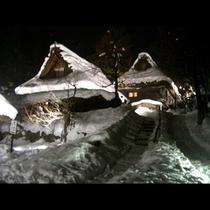 冬の飛騨の里(夜景)
