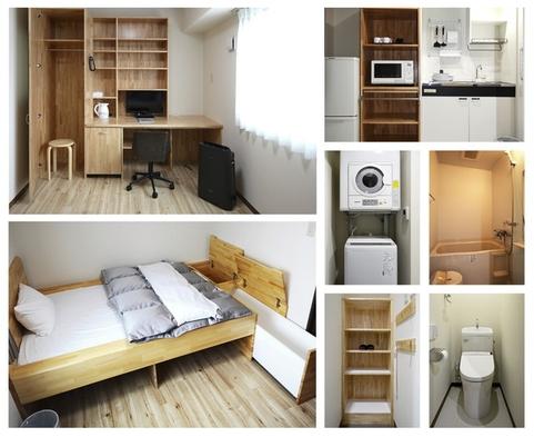 ◆3泊以上のお客様のみ宿泊可◆【素泊まり】滞在型シングルプラン<フィットネスジム利用無料>