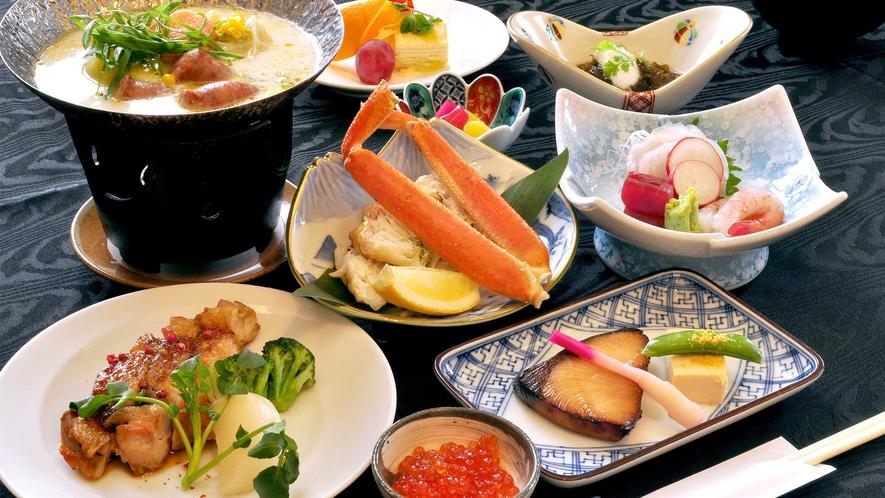 【ご夕食一例】彩り豊かな季節の和食膳をおたのしみください。