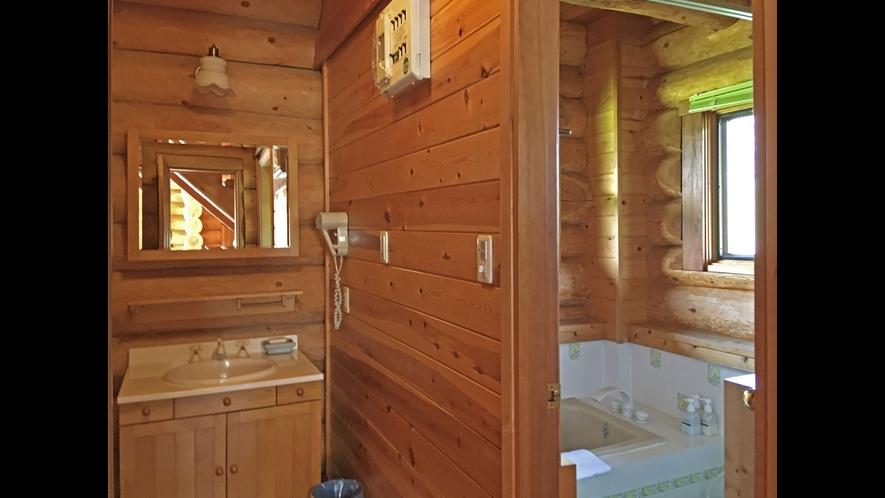 【ログハウス】TYPE-C※1階浴室イメージ