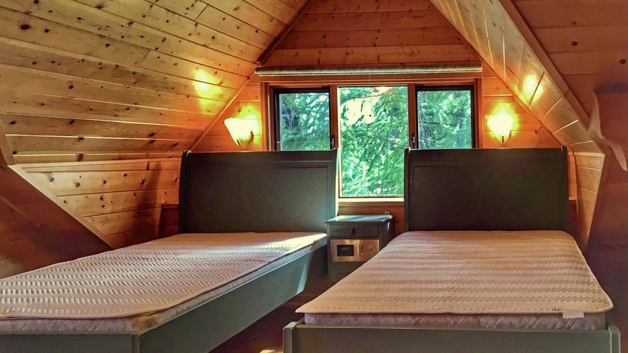 【ログハウス】TYPE-C※2階寝室イメージ
