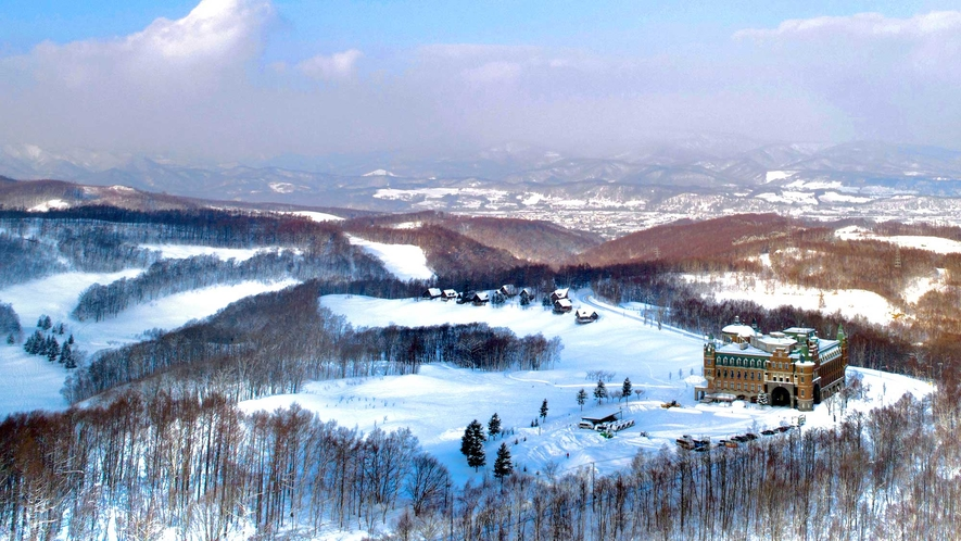 【外観(冬)】空からの風景