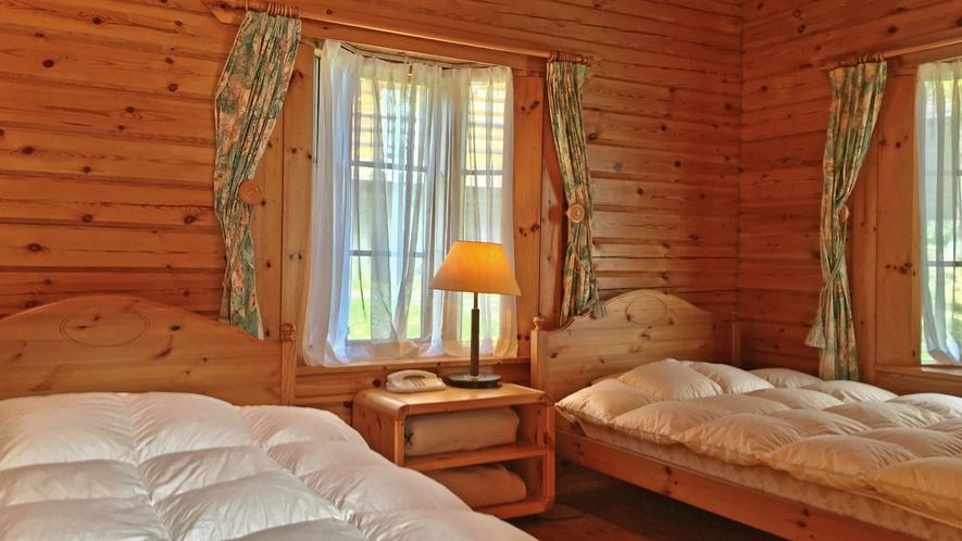 【ログハウス】TYPE-A※1階寝室イメージ