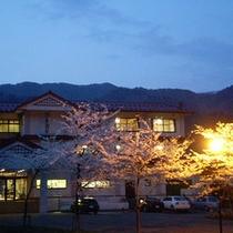 ■外観(夜桜)■