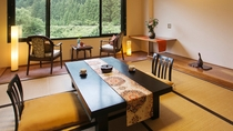 景色豊かな山側客室