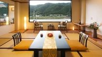 阿賀野川沿い 客室