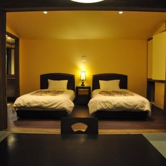 【露天風呂付き和洋室】ベッド仕様